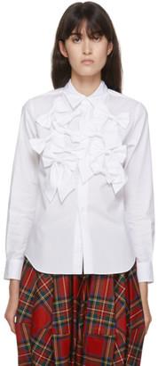 COMME DES GARÇONS GIRL White Poplin Bow Shirt