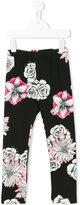 Versace floral print leggings