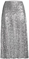 Thumbnail for your product : Norma Kamali Overlapping Sequin Midi Skirt