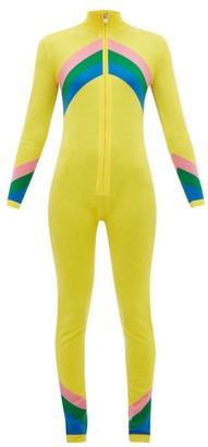 Perfect Moment Chevron-striped Merino-wool Jumpsuit - Womens - Yellow