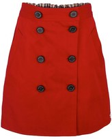 Aquascutum London Reversible Red A-Line Skirt