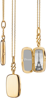 Monica Rich Kosann Slim Britt Rectangle Locket Necklace