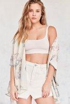Urban Outfitters Textured Camo Kimono