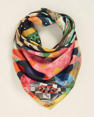 Christian Lacroix Multicolor Printed Silk Scarf