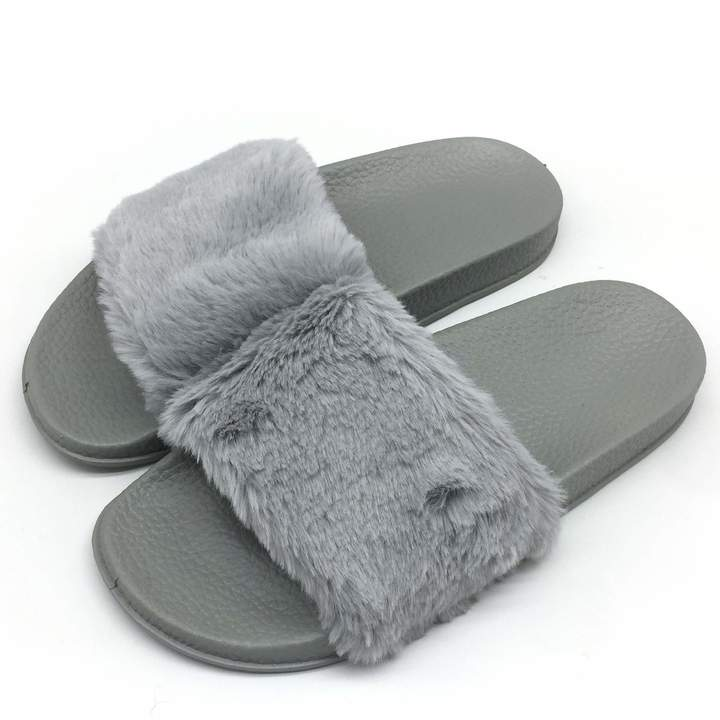 Plush Sandals On Slip House Flat Arch Womens Support Slide Shoes Slippers Faux Fur Non Gpos Indoor Fluffy luF3TK1cJ