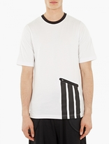 Y-3 White Pocket-Detail Cotton T-Shirt