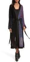 Diane von Furstenberg Women's Burnout Velvet Kimono Wrap Dress
