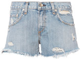 Rag & Bone JEAN Avenida Studded Boyfriend Cut Off Shorts