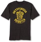Bioworld Men's Big & Tall Gryffindor Quidditch Team Harry Potter T-Shirt Gray