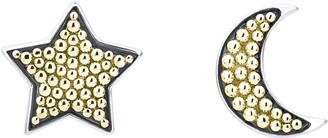 Lagos Signature Caviar Moon & Star Stud Earrings