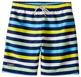 Toobydoo Multi Stripe Swim Shorts (Short) (Infant/Toddler/Little Kids/Big Kids)