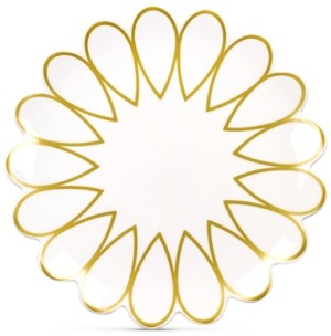 Coton Colors by Laura Johnson Scallop-Edge Gold Dinner Plate