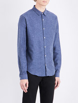 Sandro Supra slim-fit brushed-cotton shirt