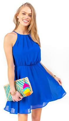 francesca's Flawless Solid Dress - Blue