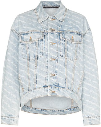 Alexander Wang Falling Back logo-print denim jacket