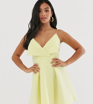 ASOS DESIGN Petite fold front skater mini dress
