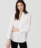 LOFT Ruffle Henley Shirt