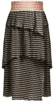 Rosie Assoulin Mountain Range seersucker gingham midi skirt