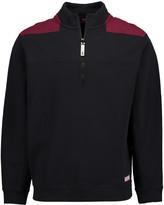 Vineyard Vines Men's Pullover Sweaters 3697 - Jet Black Color Block Shep Half-Zip Pullover - Men