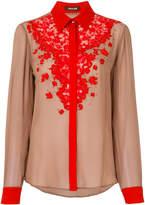 Roberto Cavalli floral lace shirt