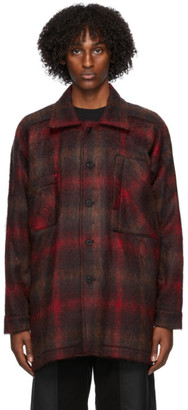 Nicholas Daley Red Smock Jacket