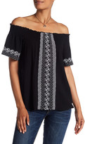 525 America Embroidered Off-the-Shoulder Blouse