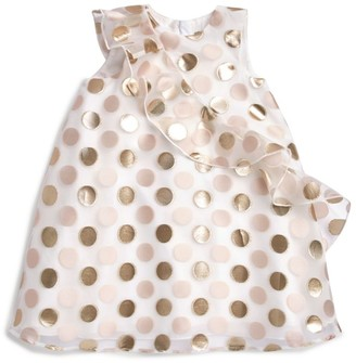 Hucklebones London Ruffle Trapeze Polka-Dot Dress