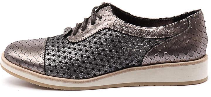 Django & Juliette Cedric Pewter-pewter Shoes Womens Shoes Casual Flat Shoes