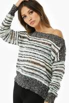 Forever 21 Striped Off-the-Shoulder Sweater-Knit Top