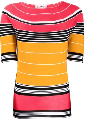 Lanvin Striped Knitted Top