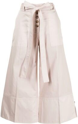 Eudon Choi Bow Detail Cotton Trousers
