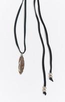 MUMU Turquoise & Tobacco ~ Anouk Lariat Feather Necklace