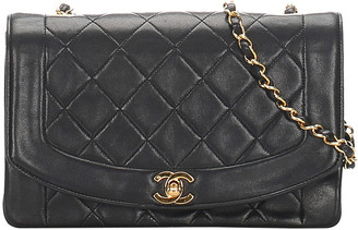 Chanel Black Quilted Leather Diana Flap Shoulder Bag