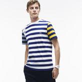 Lacoste Men's Crew Neck Off-center Stripes Cotton Jersey T-Shirt