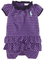 Ralph Lauren Newborn Striped Jersey Bubble Shortall