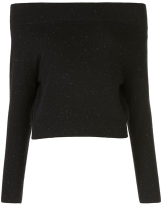 Altuzarra Off-The-Shoulder Dotted Jumper