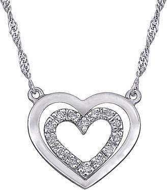 Diamond Select Cuts 18K Diamond Open Heart Halo Necklace