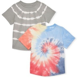 Wonder Nation Baby & Toddler Boy Tie Dye T-shirts, 2 pack