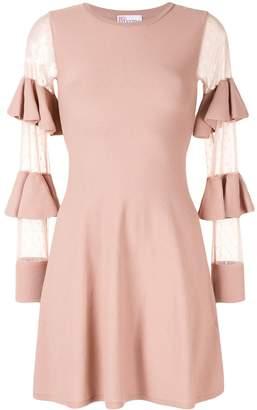 RED Valentino sheer panels short dress