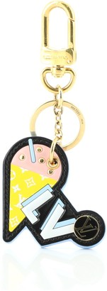 Louis Vuitton Ice Cream Charm and Key Holder Printed Leather