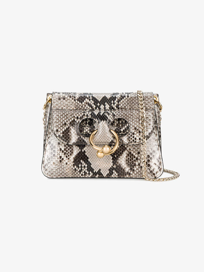 J.W.Anderson Grey Pierce Mini Python Cross Body bag