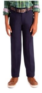 Haggar Husky Boys Premium No Iron Khaki, Slim Fit, Flat Front Pant
