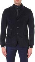 Corneliani Suede-panel velvet jacket