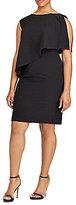 Lauren Ralph Lauren Plus Crepe One-Shoulder Dress