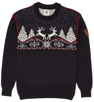Dale of Norway Christmas Sweater (Toddler/Little Kids/Big Kids) (Red Rose/Off-White/Navy) Clothing