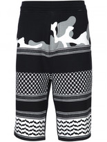 Neil Barrett patterned camouflage shorts
