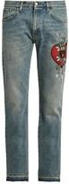 Gucci Panther-appliqué Slim-fit Jeans