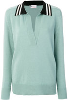 Lanvin open neck top - women - Viscose/Wool - XS