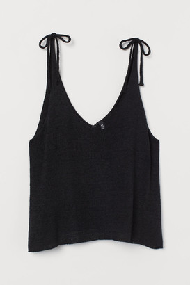 H&M Knit Camisole Top - Black
