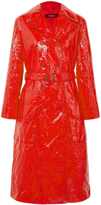 Sies Marjan Crinkled Vinyl Trench Coat